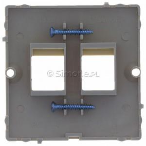 Simon Basic BMGK1P/12 - Pokrywa podwójna płaska do wkładów gniazd teleinformatycznych RJ11/RJ12/RJ45 typu Keystone - Beżowy - Podgląd zdjęcia 360st. nr 9