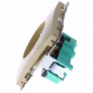 Simon Basic BMGZ1.01/12 - Gniazdo pojedyncze z bolcem uziemiającym - Beżowy - Podgląd zdjęcia 360st. nr 6