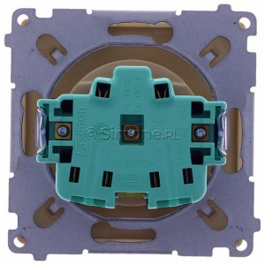 Simon Basic BMGZ1.01/12 - Gniazdo pojedyncze z bolcem uziemiającym - Beżowy - Podgląd zdjęcia 360st. nr 9