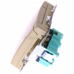 Simon Basic BMGZ1B.01/12 - Gniazdo pojedyncze hermetyczne z bolcem uziemiającym do wersji IP44 z klapką w kolorze wyrobu - Beżowy - Podgląd zdjęcia 360st. nr 6