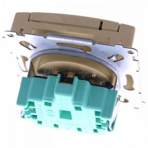 Simon Basic BMGZ1B.01/12 - Gniazdo pojedyncze hermetyczne z bolcem uziemiającym do wersji IP44 z klapką w kolorze wyrobu - Beżowy - Podgląd zdjęcia 360st. nr 4