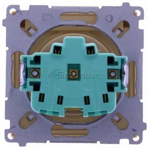 Simon Basic BMGZ1B.01/12 - Gniazdo pojedyncze hermetyczne z bolcem uziemiającym do wersji IP44 z klapką w kolorze wyrobu - Beżowy - Podgląd zdjęcia 360st. nr 9
