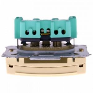 Simon Basic BMGZ1B.01/12 - Gniazdo pojedyncze hermetyczne z bolcem uziemiającym do wersji IP44 z klapką w kolorze wyrobu - Beżowy - Podgląd zdjęcia 360st. nr 8
