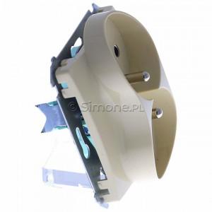 Simon Basic BMGZ2Mz.01/12 - Gniazdo podwójne z bolcem uziemiającym i przesłonami torów prądowych - Beżowy - Podgląd zdjęcia 360st. nr 2