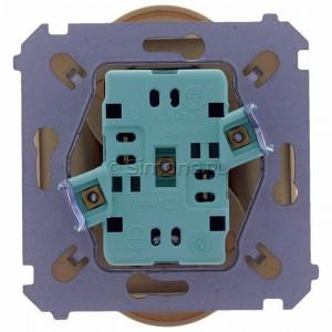 Simon Basic BMGZ2Mz.01/12 - Gniazdo podwójne z bolcem uziemiającym i przesłonami torów prądowych - Beżowy - Podgląd zdjęcia 360st. nr 9