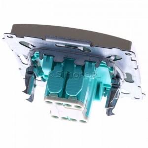 Simon Basic BMP1.01/29 - Przycisk zwierny pojedynczy - Satynowy Met. - Podgląd zdjęcia 360st. nr 4