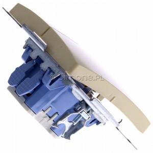 Simon Basic BMP2.01/12 - Przycisk zwierny podwójny, dwuobwodowy - Beżowy - Podgląd zdjęcia 360st. nr 3