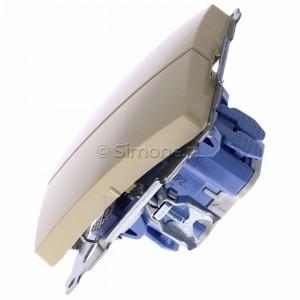 Simon Basic BMP2.01/12 - Przycisk zwierny podwójny, dwuobwodowy - Beżowy - Podgląd zdjęcia 360st. nr 6