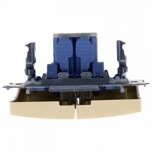 Simon Basic BMP2.01/12 - Przycisk zwierny podwójny, dwuobwodowy - Beżowy - Podgląd zdjęcia 360st. nr 8