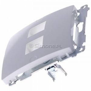 Simon Basic BMPT/11 - Pokrywa podwójna płaska do wkładów gniazd teleinformatycznych RJ11/RJ12/RJ45 typu Keystone - Biały - Podgląd zdjęcia 360st. nr 6