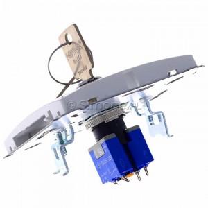 Simon Basic BMPZK.01/11 - Łącznik żaluzjowy na kluczyk chwilowy zwierny 3 pozycyjny I-0-II - Biały - Podgląd zdjęcia 360st. nr 5