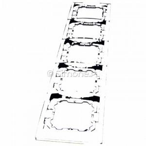 Simon Basic BMRC5/28 - Ramka pięciokrotna Neos - Grafit Mat - Podgląd zdjęcia 360st. nr 6