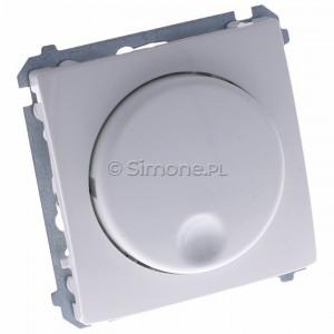Simon Basic BMS9T.01/11 - Ściemniacz naciskowo-obrotowy 20-500W - Biały - Podgląd zdjęcia 360st. nr 1