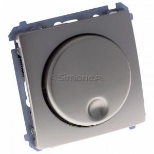 Simon Basic BMS9T.01/29 - Ściemniacz naciskowo-obrotowy 20-500W - Satynowy Met. - Podgląd zdjęcia 360st. nr 1