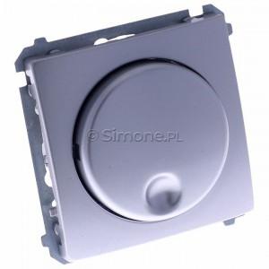 Simon Basic BMS9T.01/43 - Ściemniacz naciskowo-obrotowy 20-500W - Srebrny Mat. - Podgląd zdjęcia 360st. nr 1