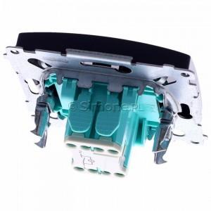 Simon Basic BMW1L.01/28 - Łącznik pojedynczy z podświetleniem typu LED w kolorze niebieskim - Grafit Mat. - Podgląd zdjęcia 360st. nr 4