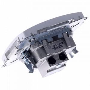 Simon Basic BMZAK10/1.01/11 - Gniazdo antenowe RTV zakończeniowe w szeregu gniazd przelotowych - Biały - Podgląd zdjęcia 360st. nr 5