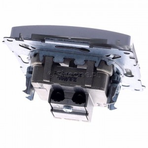 Simon Basic BMZAP10/1.01/43 - Gniazdo antenowe RTV przelotowe 10dB - Srebrny Mat. - Podgląd zdjęcia 360st. nr 4