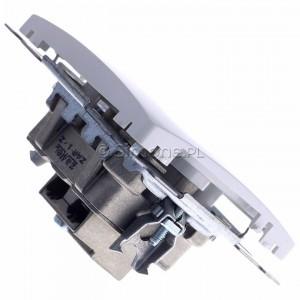 Simon Basic BMZAR1/1.01/11 - Gniazdo antenowe RTV końcowe  separowane - Biały - Podgląd zdjęcia 360st. nr 3
