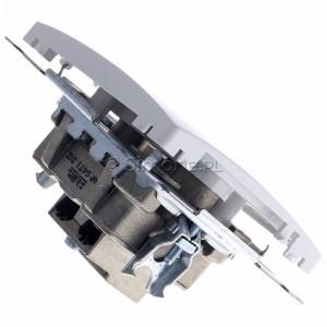 Simon Basic BMZAR-SAT1.3/1.01/11 - Gniazdo antenowe RTV-SAT końcowe lub zakończeniowe w szeregu gniazd przelotowych - Biały - Podgląd zdjęcia 360st. nr 3