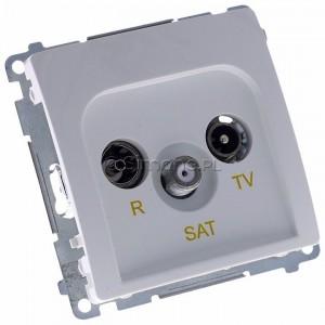 Simon Basic BMZAR-SAT1.3/1.01/11 - Gniazdo antenowe RTV-SAT końcowe lub zakończeniowe w szeregu gniazd przelotowych - Biały - Podgląd zdjęcia 360st. nr 1
