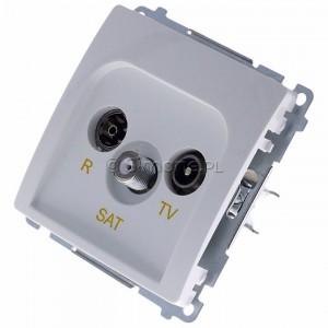 Simon Basic BMZAR-SAT1.3/1.01/11 - Gniazdo antenowe RTV-SAT końcowe lub zakończeniowe w szeregu gniazd przelotowych - Biały - Podgląd zdjęcia 360st. nr 7