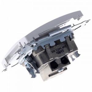Simon Basic BMZAR-SAT1.3/1.01/11 - Gniazdo antenowe RTV-SAT końcowe lub zakończeniowe w szeregu gniazd przelotowych - Biały - Podgląd zdjęcia 360st. nr 5