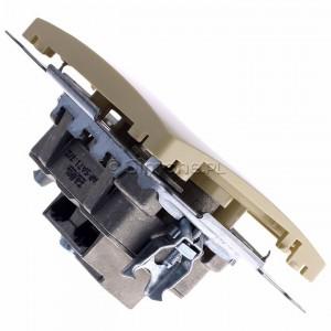 Simon Basic BMZAR-SAT1.3/1.01/12 - Gniazdo antenowe RTV-SAT końcowe lub zakończeniowe w szeregu gniazd przelotowych - Beżowy - Podgląd zdjęcia 360st. nr 3