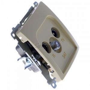 Simon Basic BMZAR-SAT1.3/1.01/12 - Gniazdo antenowe RTV-SAT końcowe lub zakończeniowe w szeregu gniazd przelotowych - Beżowy - Podgląd zdjęcia 360st. nr 2