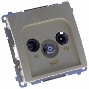 Simon Basic BMZAR-SAT1.3/1.01/12 - Gniazdo antenowe RTV-SAT końcowe lub zakończeniowe w szeregu gniazd przelotowych - Beżowy - Podgląd zdjęcia 360st. nr 1
