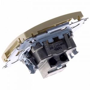 Simon Basic BMZAR-SAT1.3/1.01/12 - Gniazdo antenowe RTV-SAT końcowe lub zakończeniowe w szeregu gniazd przelotowych - Beżowy - Podgląd zdjęcia 360st. nr 5