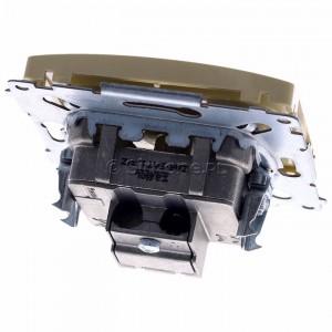 Simon Basic BMZAR-SAT1.3/1.01/12 - Gniazdo antenowe RTV-SAT końcowe lub zakończeniowe w szeregu gniazd przelotowych - Beżowy - Podgląd zdjęcia 360st. nr 4