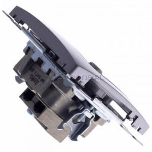 Simon Basic BMZAR-SAT1.3/1.01/21 - Gniazdo antenowe RTV-SAT końcowe lub zakończeniowe w szeregu gniazd przelotowych - Inox Met. - Podgląd zdjęcia 360st. nr 3