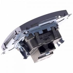 Simon Basic BMZAR-SAT1.3/1.01/21 - Gniazdo antenowe RTV-SAT końcowe lub zakończeniowe w szeregu gniazd przelotowych - Inox Met. - Podgląd zdjęcia 360st. nr 5