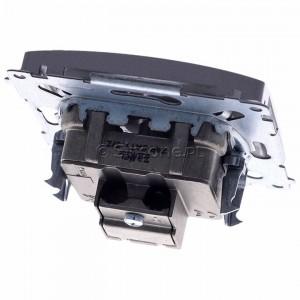 Simon Basic BMZAR-SAT1.3/1.01/21 - Gniazdo antenowe RTV-SAT końcowe lub zakończeniowe w szeregu gniazd przelotowych - Inox Met. - Podgląd zdjęcia 360st. nr 4