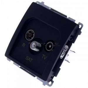 Simon Basic BMZAR-SAT1.3/1.01/28 - Gniazdo antenowe RTV-SAT końcowe lub zakończeniowe w szeregu gniazd przelotowych - Grafit Mat. - Podgląd zdjęcia 360st. nr 7