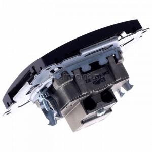 Simon Basic BMZAR-SAT1.3/1.01/28 - Gniazdo antenowe RTV-SAT końcowe lub zakończeniowe w szeregu gniazd przelotowych - Grafit Mat. - Podgląd zdjęcia 360st. nr 5
