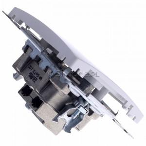 Simon Basic BMZAR+SAT3.1-P2.01/11 - Gniazdo antenowe RTV-SAT-SAT końcowe z dwoma wyjściami SAT - Biały - Podgląd zdjęcia 360st. nr 3