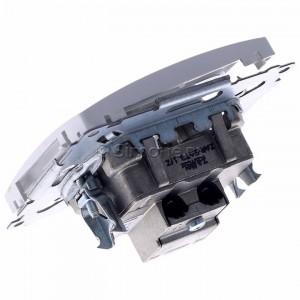 Simon Basic BMZAR+SAT3.1-P2.01/11 - Gniazdo antenowe RTV-SAT-SAT końcowe z dwoma wyjściami SAT - Biały - Podgląd zdjęcia 360st. nr 5