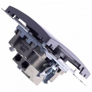 Simon Basic BMZAR+SAT3.1-P2.01/21 - Gniazdo antenowe RTV-SAT-SAT końcowe z dwoma wyjściami SAT - Inox Met. - Podgląd zdjęcia 360st. nr 3