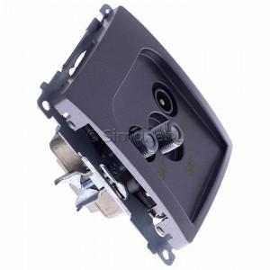Simon Basic BMZAR+SAT3.1-P2.01/21 - Gniazdo antenowe RTV-SAT-SAT końcowe z dwoma wyjściami SAT - Inox Met. - Podgląd zdjęcia 360st. nr 2