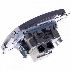 Simon Basic BMZAR+SAT3.1-P2.01/21 - Gniazdo antenowe RTV-SAT-SAT końcowe z dwoma wyjściami SAT - Inox Met. - Podgląd zdjęcia 360st. nr 5
