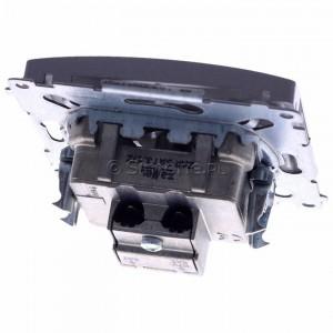 Simon Basic BMZAR+SAT3.1-P2.01/21 - Gniazdo antenowe RTV-SAT-SAT końcowe z dwoma wyjściami SAT - Inox Met. - Podgląd zdjęcia 360st. nr 4