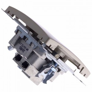 Simon Basic BMZAR+SAT3.1-P2.01/29 - Gniazdo antenowe RTV-SAT-SAT końcowe z dwoma wyjściami SAT - Satynowy Met. - Podgląd zdjęcia 360st. nr 3