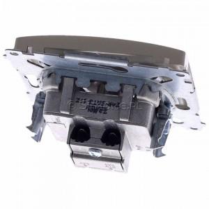 Simon Basic BMZAR+SAT3.1-P2.01/29 - Gniazdo antenowe RTV-SAT-SAT końcowe z dwoma wyjściami SAT - Satynowy Met. - Podgląd zdjęcia 360st. nr 4