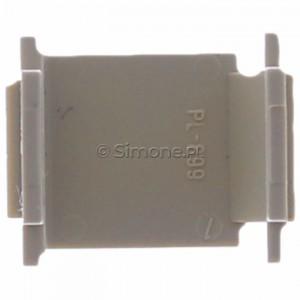 Simon Basic BWB/12 - Zaślepka otworu wtyku RJ45/RJ12 do pokrywy gniazda teleinformatycznego - Beżowy - Podgląd zdjęcia 360st. nr 9
