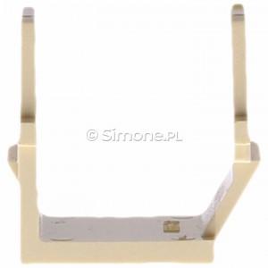 Simon Basic BWB/12 - Zaślepka otworu wtyku RJ45/RJ12 do pokrywy gniazda teleinformatycznego - Beżowy - Podgląd zdjęcia 360st. nr 8