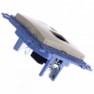 Simon 10 C51.01/41 - Gniazdo komputerowe pojedyncze RJ45 kat. 5 - Kremowy - Podgląd zdjęcia 360st. nr 3