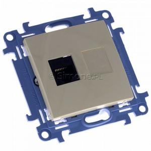 Simon 10 C51.01/41 - Gniazdo komputerowe pojedyncze RJ45 kat. 5 - Kremowy - Podgląd zdjęcia 360st. nr 1