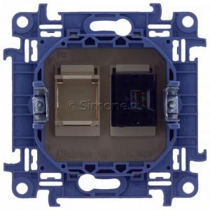 Simon 10 C51.01/41 - Gniazdo komputerowe pojedyncze RJ45 kat. 5 - Kremowy - Podgląd zdjęcia 360st. nr 9